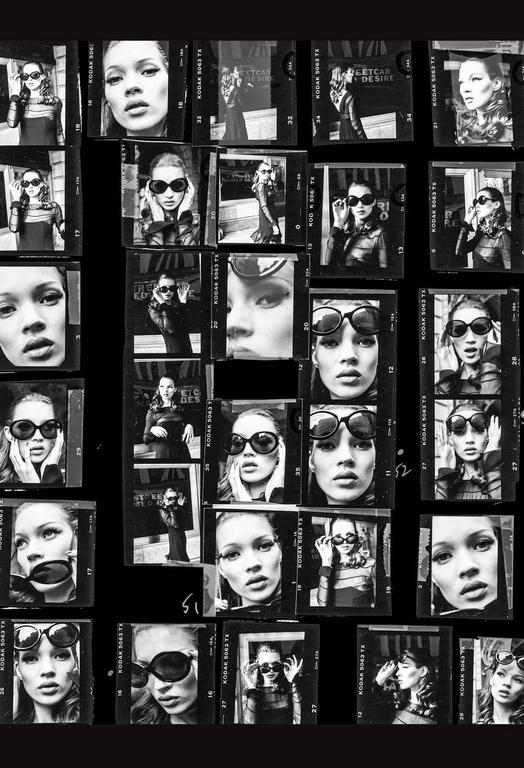 Stephanie Pfriender Stylander Black and White Photograph - Desire (Kate Moss)