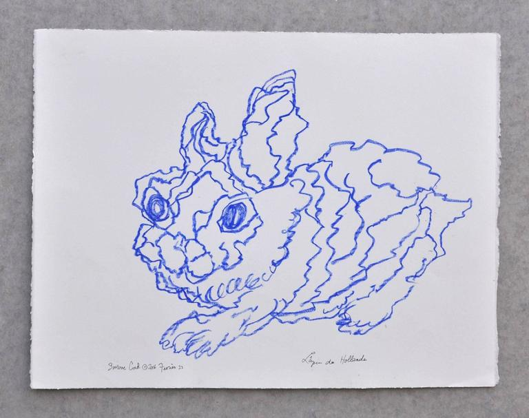 Simone Gad Animal Art - Lapin Blue Du Hollande