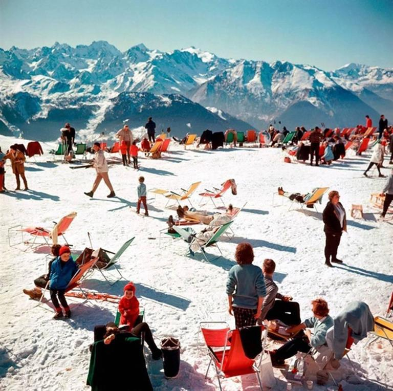 Verbier Vacation (Slim Aarons Estate Edition) - Photograph by Slim Aarons