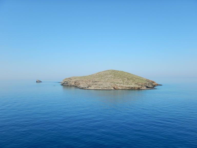 Leandros Pigades Color Photograph - Small Aegean Sea Island, Cyclades