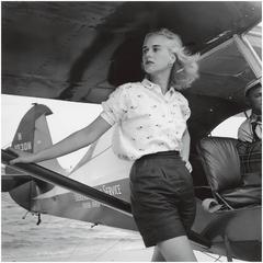Slim Aarons - Patsy Pulitzer, Seaplane At Palm Beach