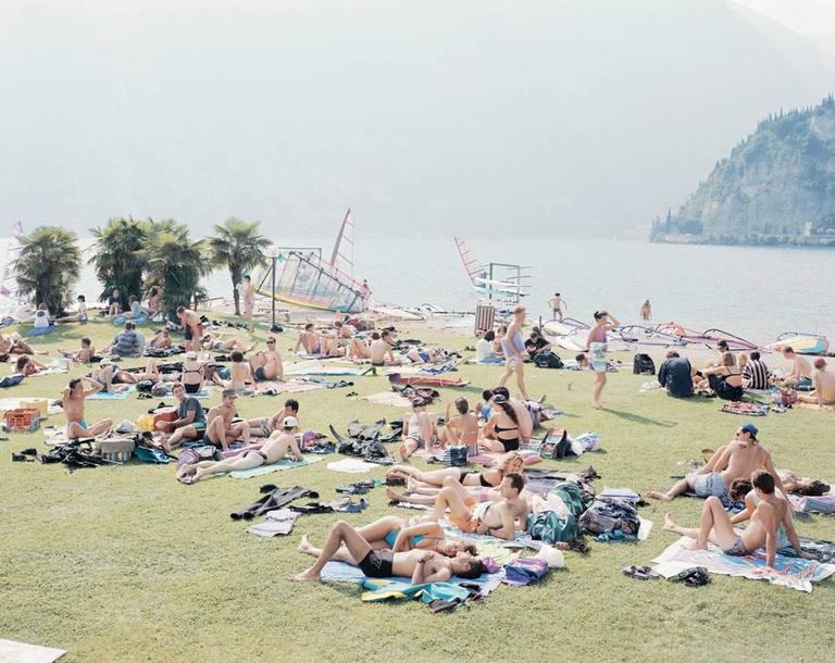 Massimo Vitali Color Photograph - Garda Look from the Portfolio Landscapes with Figures