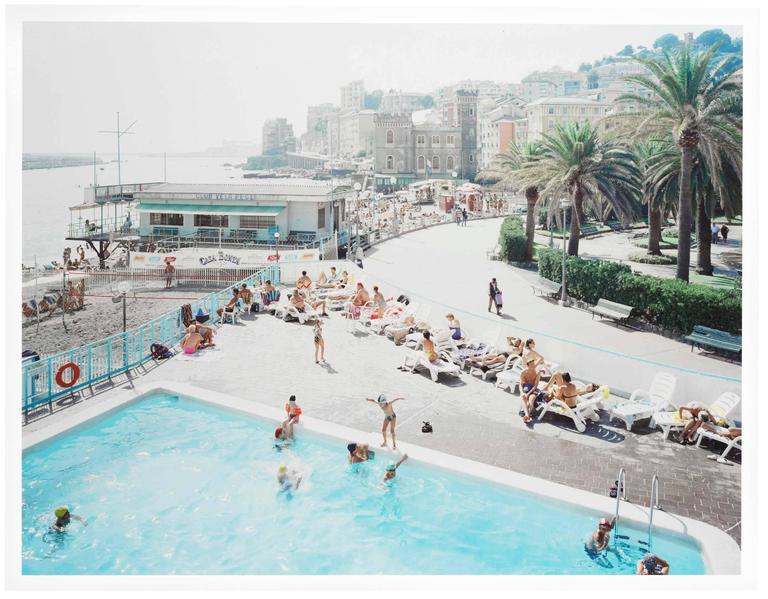 Massimo Vitali Color Photograph - Genova Pegli West