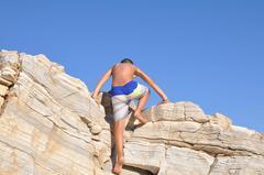 Climbing Boy, Aegean Marble Sky