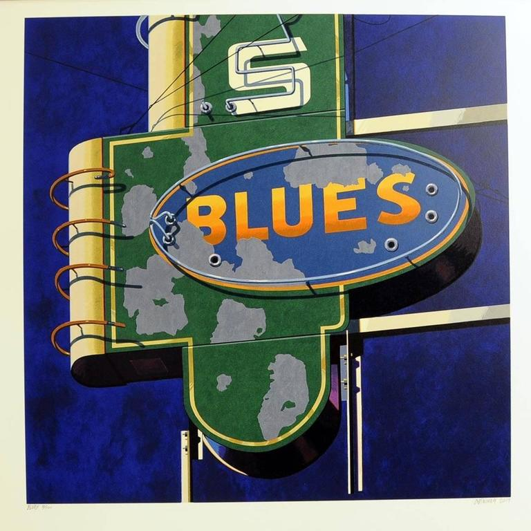Blues, from American Signs portfolio - Print by Robert Cottingham
