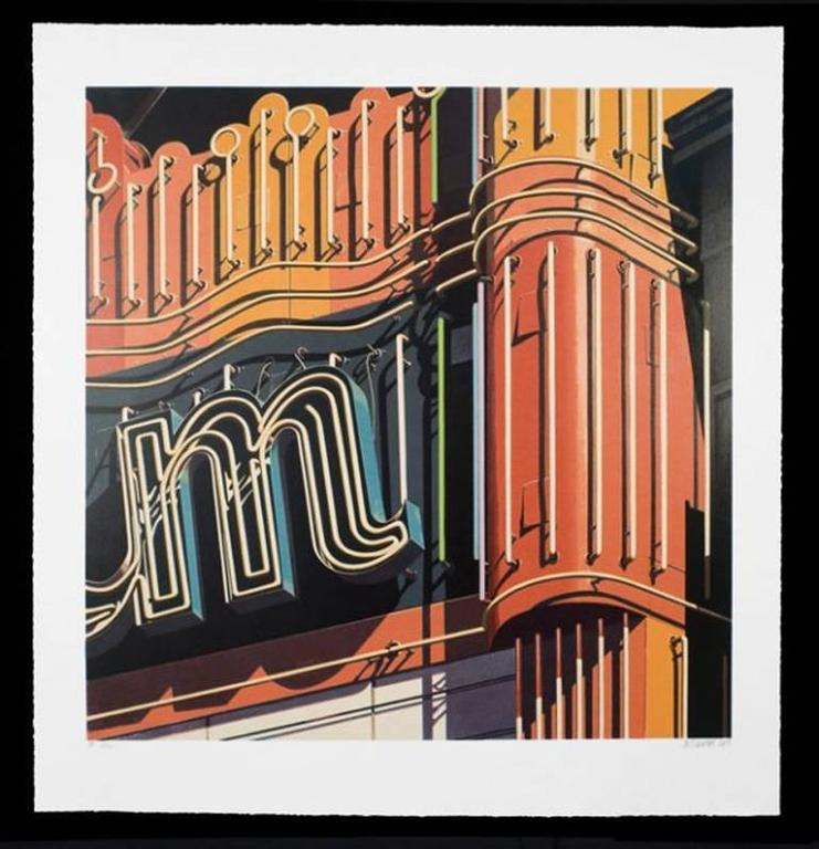 Robert Cottingham Abstract Print -  M, from American Signs portfolio