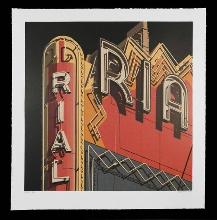Robert Cottingham Abstract Print - Rialto, from American Signs portfolio