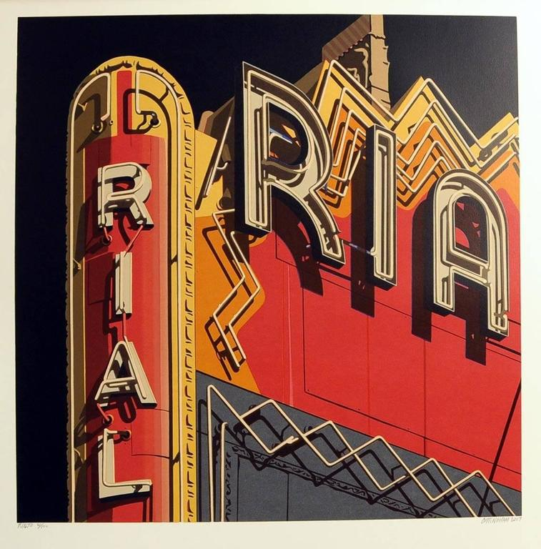 Rialto, from American Signs portfolio - Print by Robert Cottingham