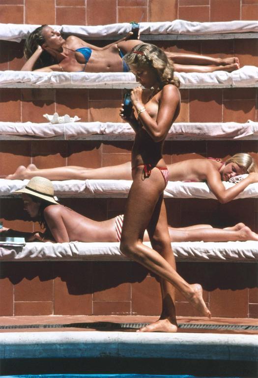 Slim Aarons Color Photograph - Catherine Wilke, Capri (open edition)