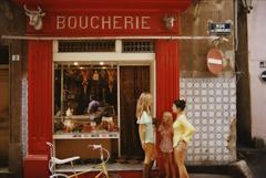 Saint-Tropez Boucherie (Slim Aarons Estate Print)