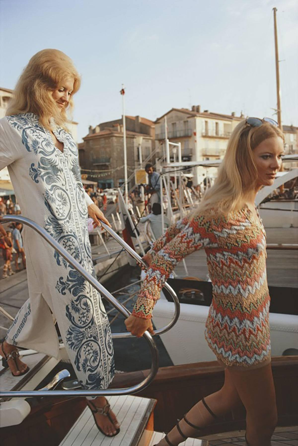 Saint Tropez, Fashionable Ladies Disembark (Slim Aarons Estate Edition)