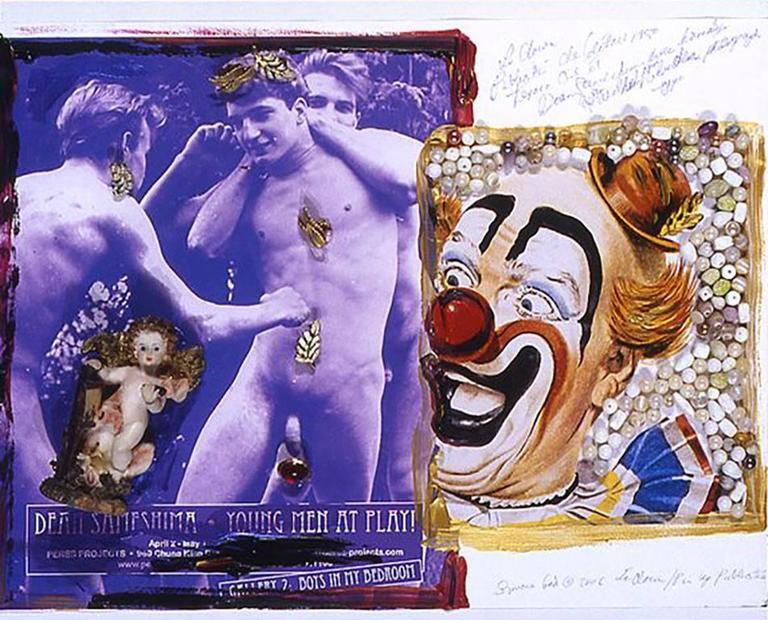 Clown Male Pinup 001 - Mixed Media Art by Simone Gad