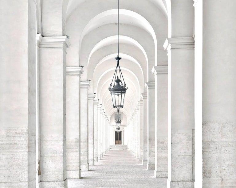 Massimo Listri Color Photograph - Palazzo del Quirinale Portico del Cortile