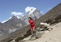 4600 Meters Tripych (Thought dances for freedom at Mount Everest)