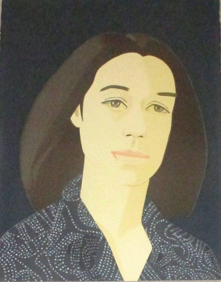 Alex Katz Portrait Print - Ada Four Times IV