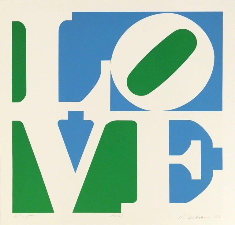Robert Indiana Abstract Print - Lily (from A Garden of Love)