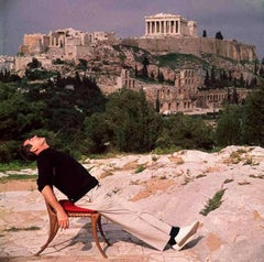 Self Portrait with Acropolis 1955