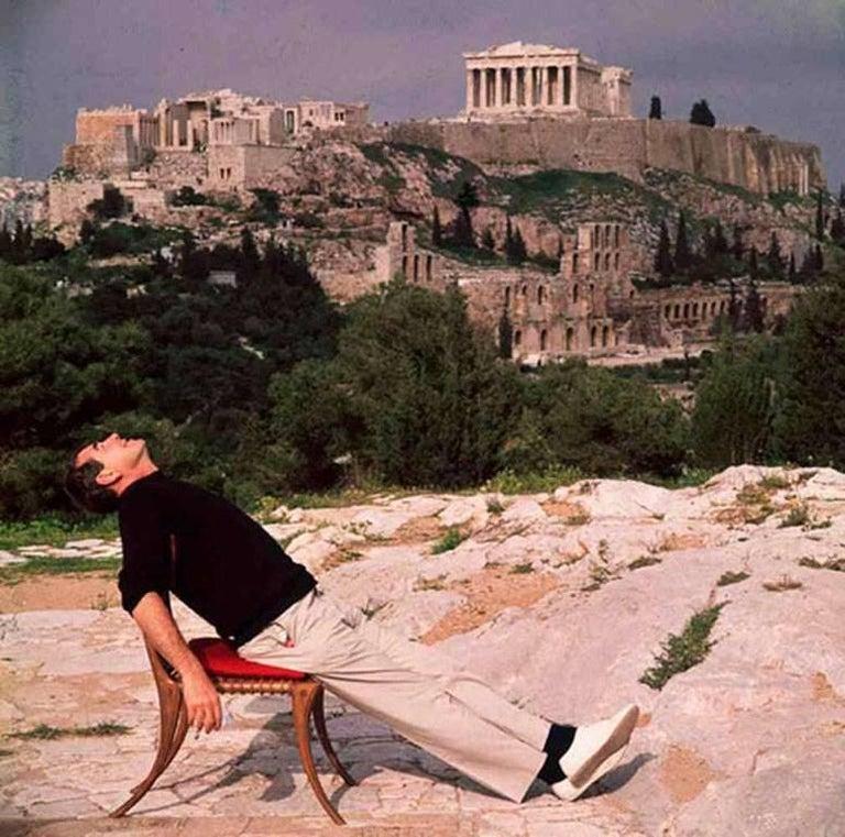 Slim Aarons Color Photograph - Self Portrait with Acropolis 1955