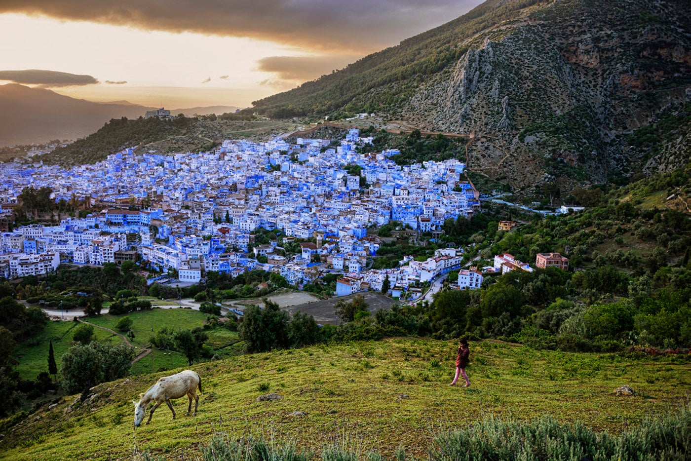 Steve McCurry 'Hilltop View of Chefchaouen'