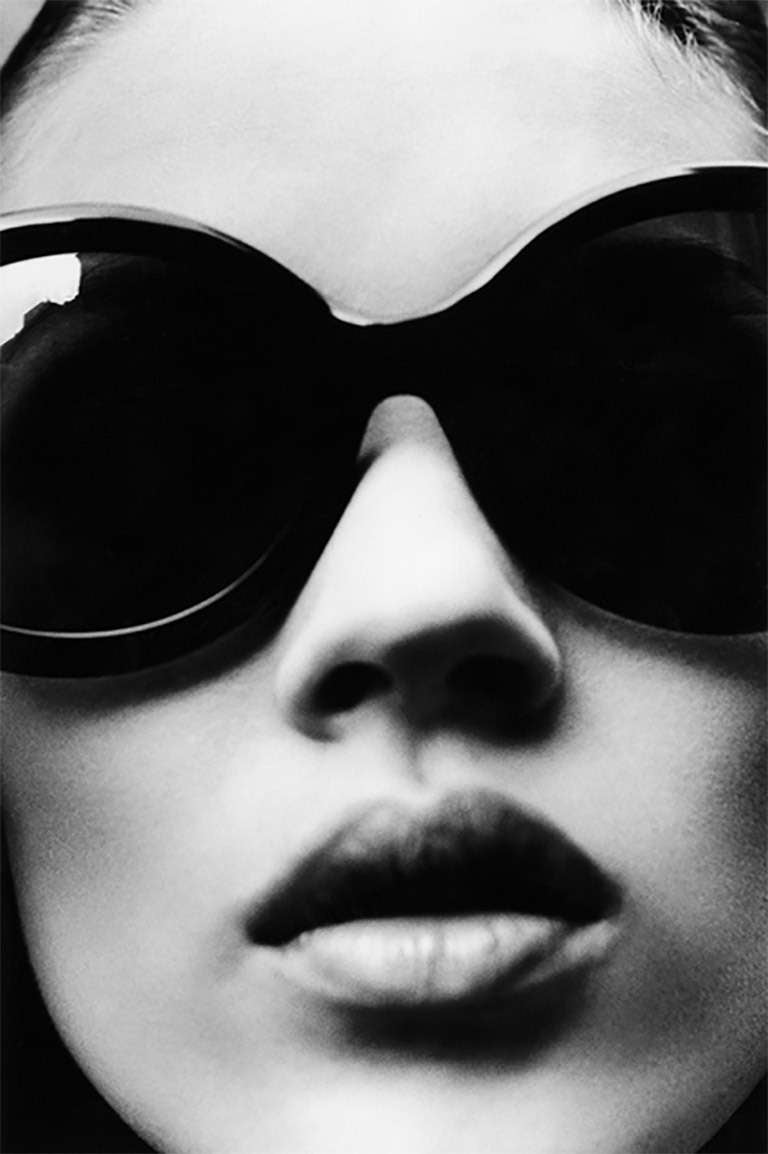 Stephanie Pfriender Stylander Black and White Photograph - Kate Moss, The Face