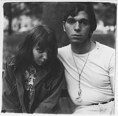 Diane Arbus - Girl and Boy in Wash Sq Park NYC