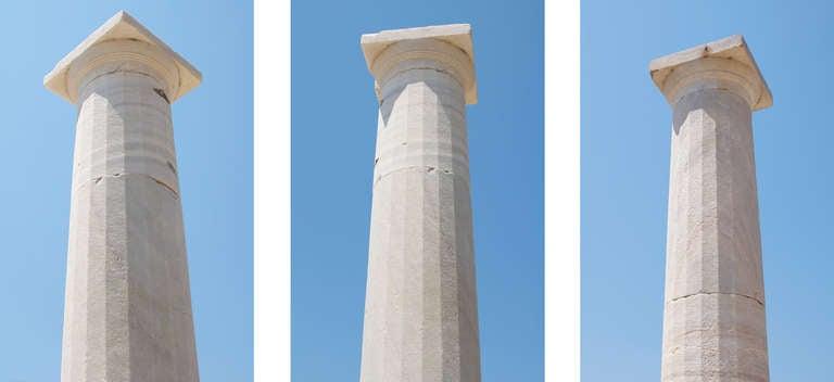 Delos Column #2 - Photograph by Lee Wells