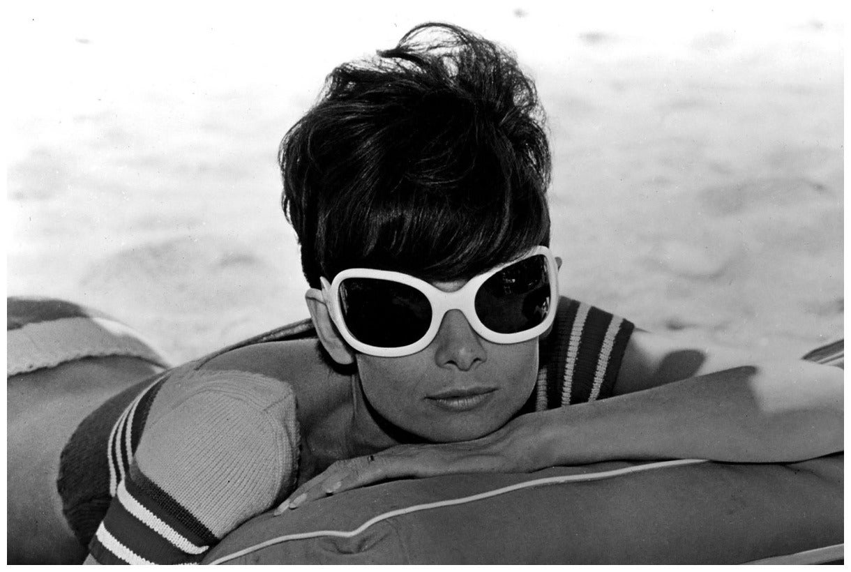 Audrey Hepburn Relaxing, St Tropez