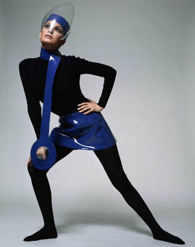 Terry O'Neill Portrait Photograph - Raquel Welch in Pierre Cardin
