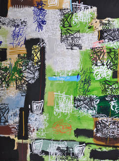 Untitled (abstraction with green)