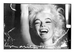 Marilyn Monroe Laughing in Pearls