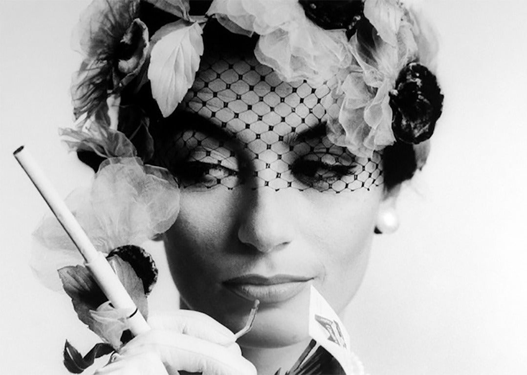William Klein Black and White Photograph - Anouk Aimee, Paris
