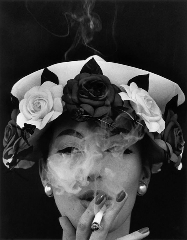 William Klein Figurative Photograph - Hat with Five Roses Paris (Vogue)