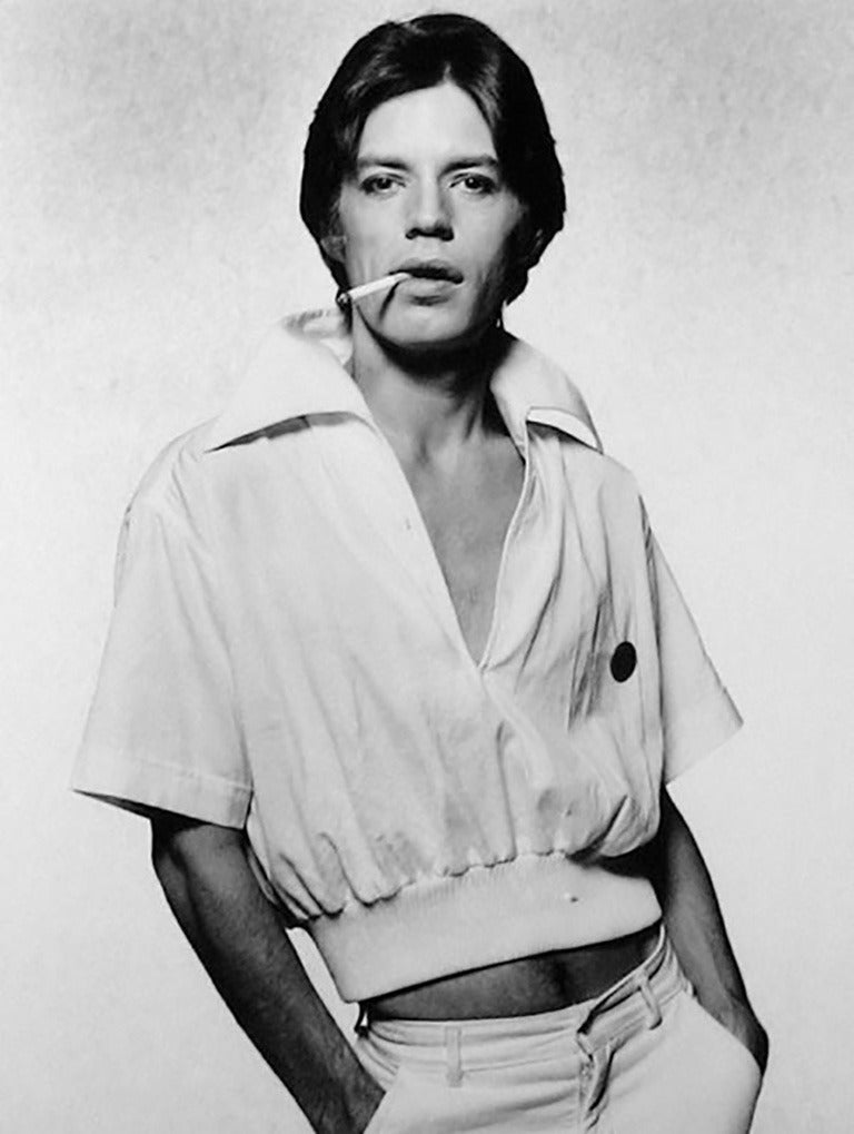Terry O'Neill Portrait Photograph - Mick Jagger, Cigarette
