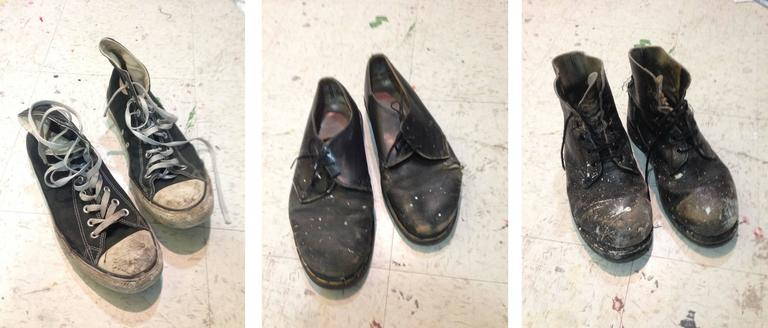 Studio Shoes (Triptych)