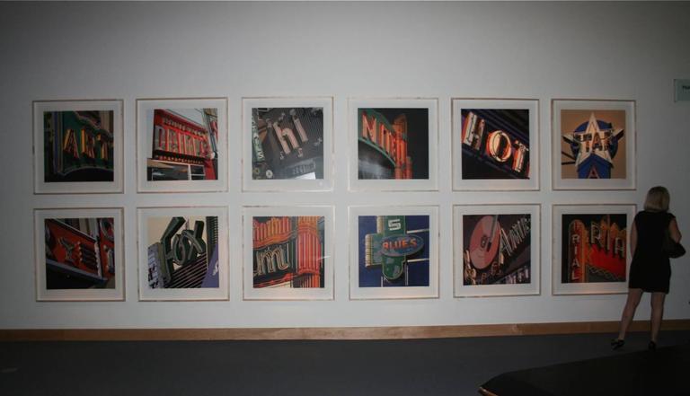 Drinks, from American Signs portfolio - Beige Print by Robert Cottingham