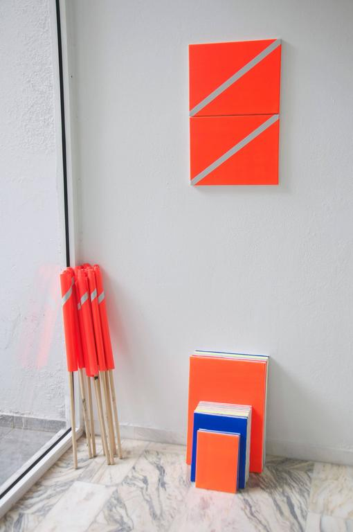 Two Flags - Painting by Leandros Pigades