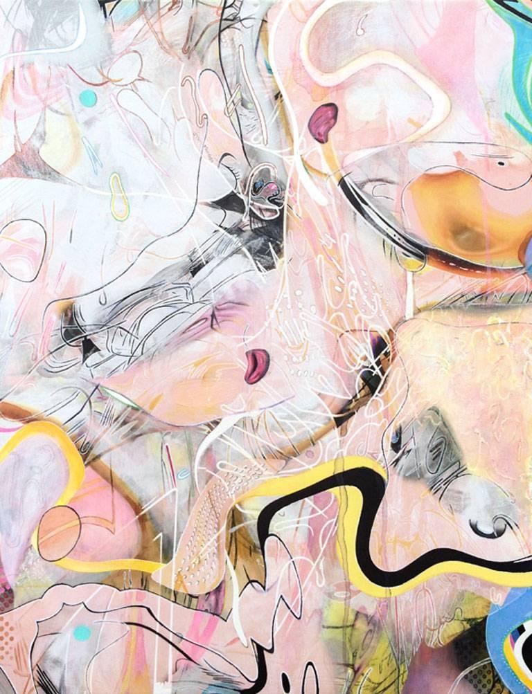 Misha Milovanovich Abstract Painting - BimbiBerryBaba from the Inevitable Feeling Series