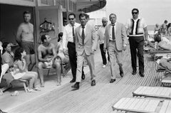 Frank Sinatra and entourage on Miami Beach
