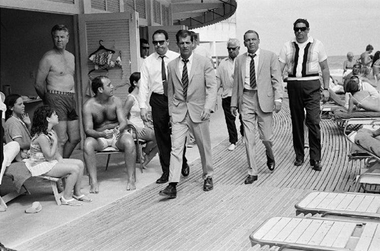 Frank Sinatra and entourage on Miami Beach