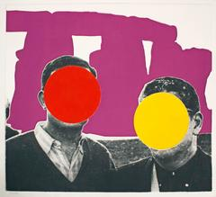 John Baldessari - Stonehenge (With Two Persons) Violet