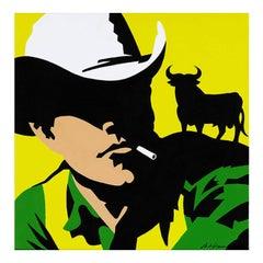 Vaquero Osborne fondo amarillo