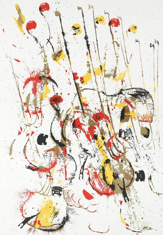 Arman Figurative Print - Melody for Strings III