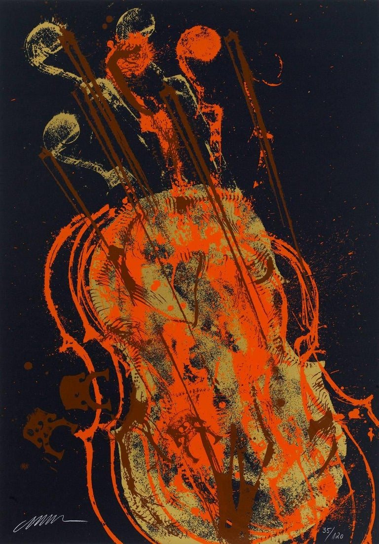 Fernandez Arman Figurative Print - Melody for Strings 1