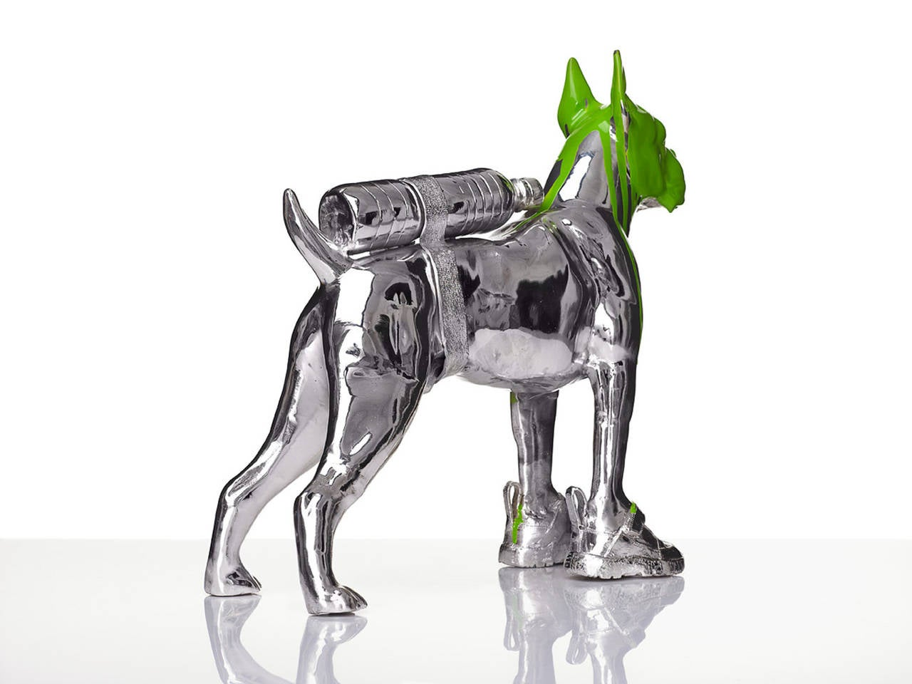 Cloned Bulldog with pet bottle. 1