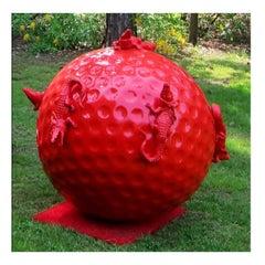 Cloned golfball with crocodiles