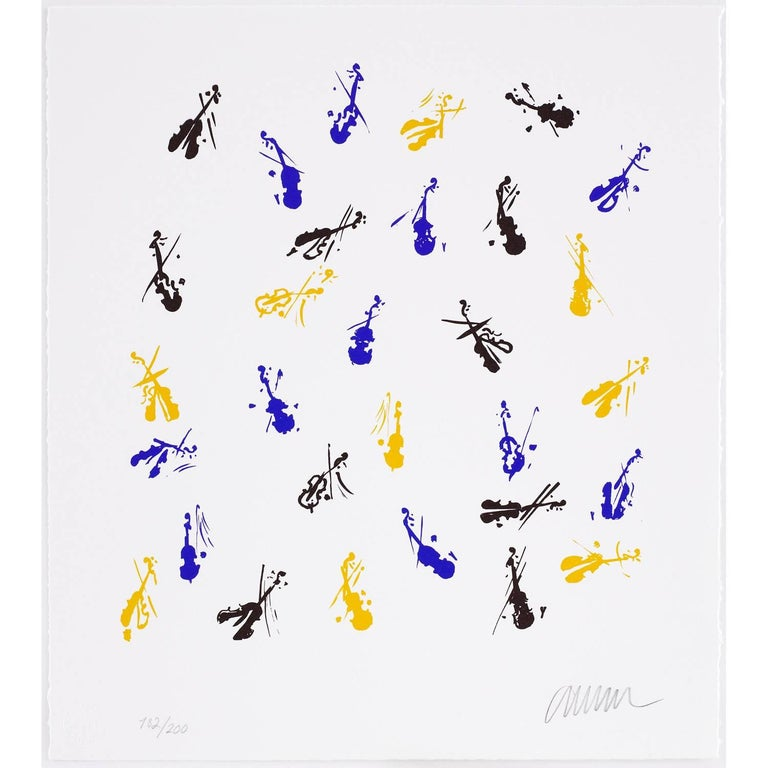 Fiddlemania - Contemporary Print by Arman