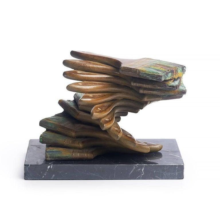 Les pinceaux - Sculpture by Fernandez Arman