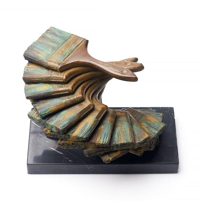 Les pinceaux - Contemporary Sculpture by Fernandez Arman