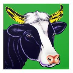 Vaca Warhol verde