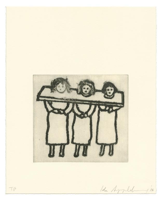 Ida Applebroog Figurative Print - Ephemera